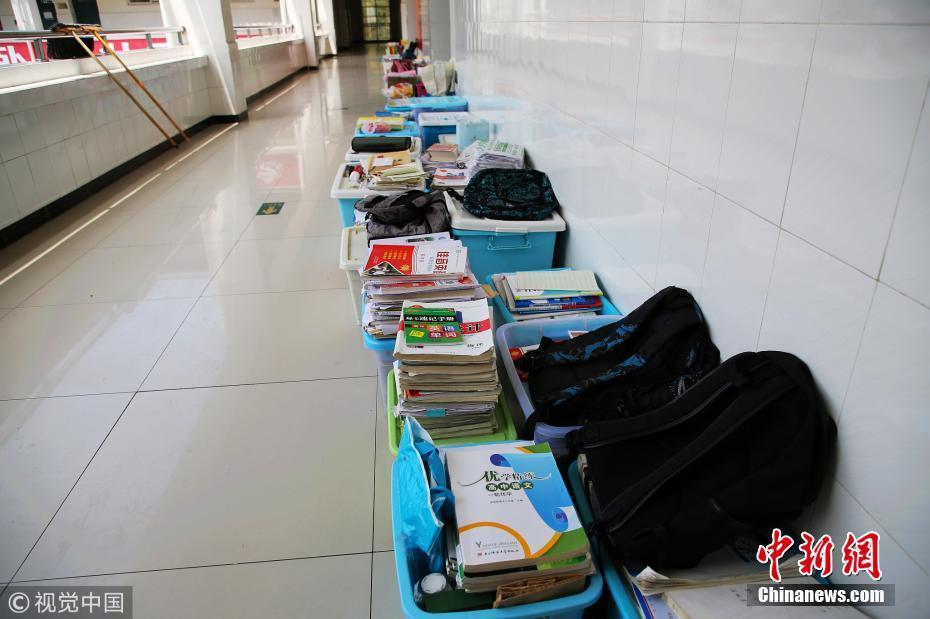 v学子倒计时四川广元学子高中学习用品堆满过WOAO高三图片