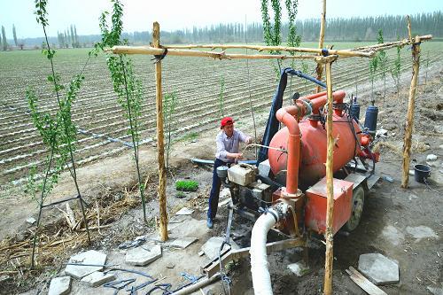 新疆塔里木盆地抗旱节水